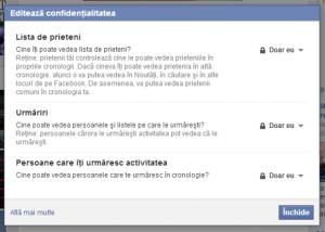 scos din lista de facebook